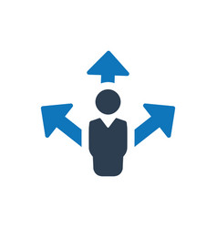 Business direction planning icon vector