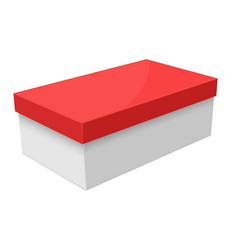 closed box white packaging with red lid vector image
