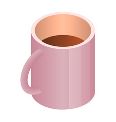 coffee cup icon isometric style vector image