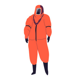costume rubber with mask protective suit vector image