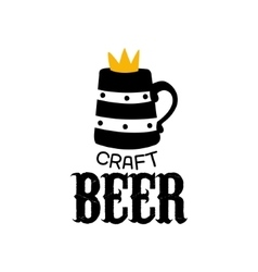 Craft Beer Logo Design Template With Crown vector