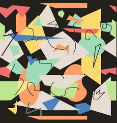creative doodle art pattern vector image