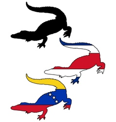 Crocodile South America vector image