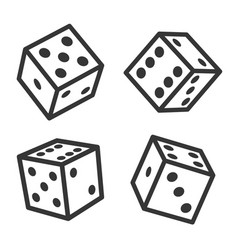 dice cubes set on white background vector image