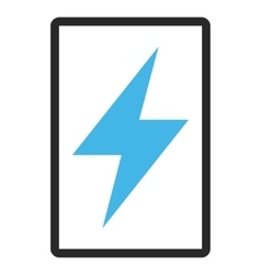 Electric Strike Framed Icon vector
