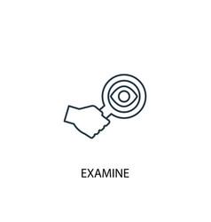 Examine concept line icon simple element vector