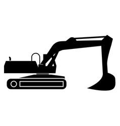 Excavator black color icon vector