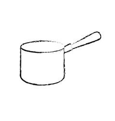 figure pot kitchen utensil object to cuisine vector image