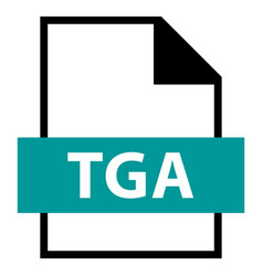 file name extension tga type vector image