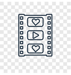 film strip concept linear icon isolated on vector image