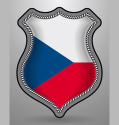 flag of czech republic badge and icon vector image