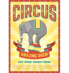 Flat Circus Poster vector