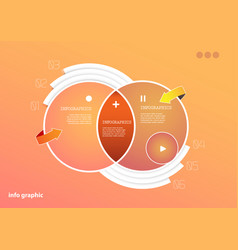 flat design template with icons and symbols on vector image