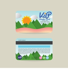 Front And Back VIP Member Card Template Natural vector