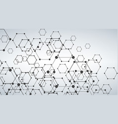 futuristic dna abstract molecule cell vector image