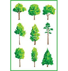 geometric trees vector image