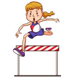 Girl jumping vector image