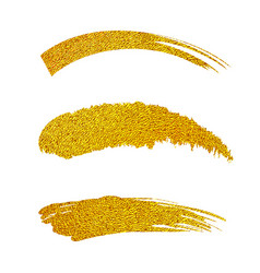 golden paint brushes vector image