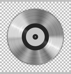 gramophone platinum vinyl lp record template vector image