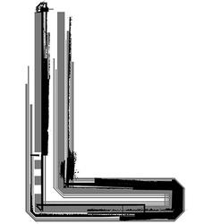 Grunge font Letter L vector image