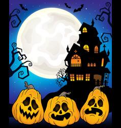 Halloween pumpkins theme image 6 vector