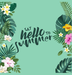 hello summer c vector image