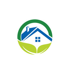 Home roof organic business logo vector