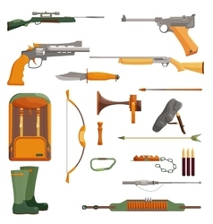 Hunting object of set vector image