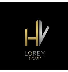 HV letters logo vector image