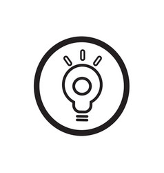 idea icon concept light bulb symbol vector image