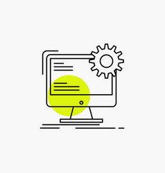 Internet layout page site static line icon vector