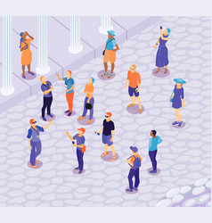 isometric outdoor excursion composition vector image