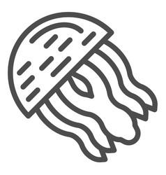 jellyfish line icon aquatic vector image