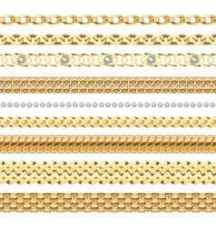 Jewelry Chains Set vector
