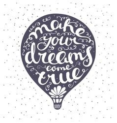 Lettering composition inscribed into air ballon vector