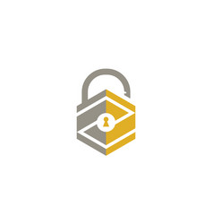 lock open logo vector image