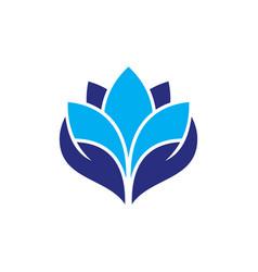 Lotus flower abstract logo design template vector