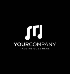 M letter for music note logo designs concept vector