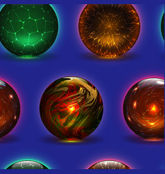 magic ball magical crystal glass sphere and vector image
