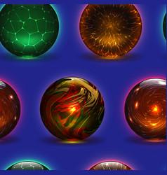 Magic ball magical crystal glass sphere vector