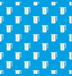 measuring cup pattern seamless blue vector image