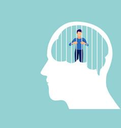 Mental health illness brain development medical vector