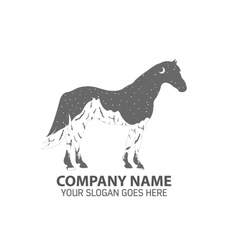 Night Horse Logo Icon vector image