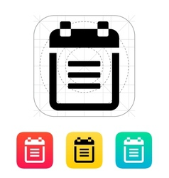Notepad with spiral icon vector