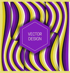 Optical illusion moving layers wavy background vector