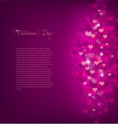 pink background love vector image