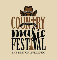Poster for country music festival vector