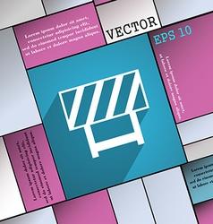 Road barrier icon symbol Flat modern web design vector