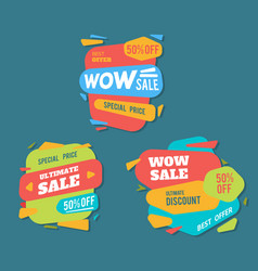 Sale badges and special offer tags creative vector