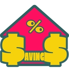 Savings grow up sticker vector